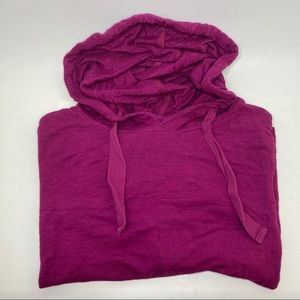Marc NY boxy cropped hooded top, size M